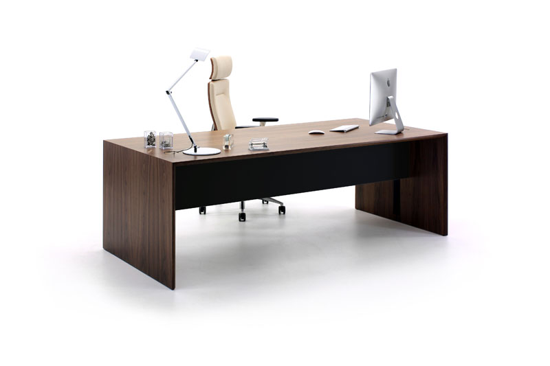 Aston Walnut & Black Executive Desk