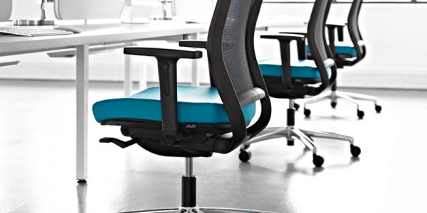 Breathe Task Chair With Ice White Oblique Furniture
