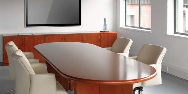 Corniche Boardroom Table With Verbe Chairs