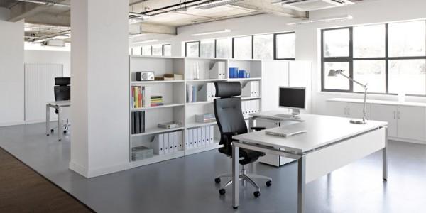 Ice White Oblique Desk Range
