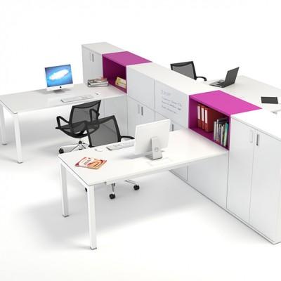OD2 4 Person Desk & Storage Module