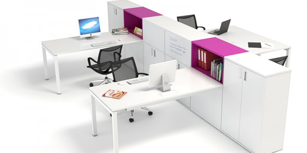 OD2 4 Person Desk & Storage Module