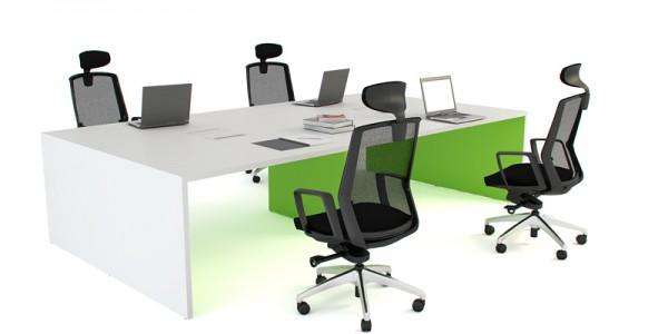 Panel End Desk Option