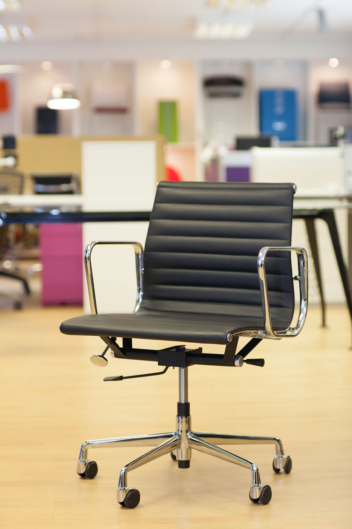 eames ribbed chair tan office. Eames Style Ribbed Chairs Front Chair Tan Office L