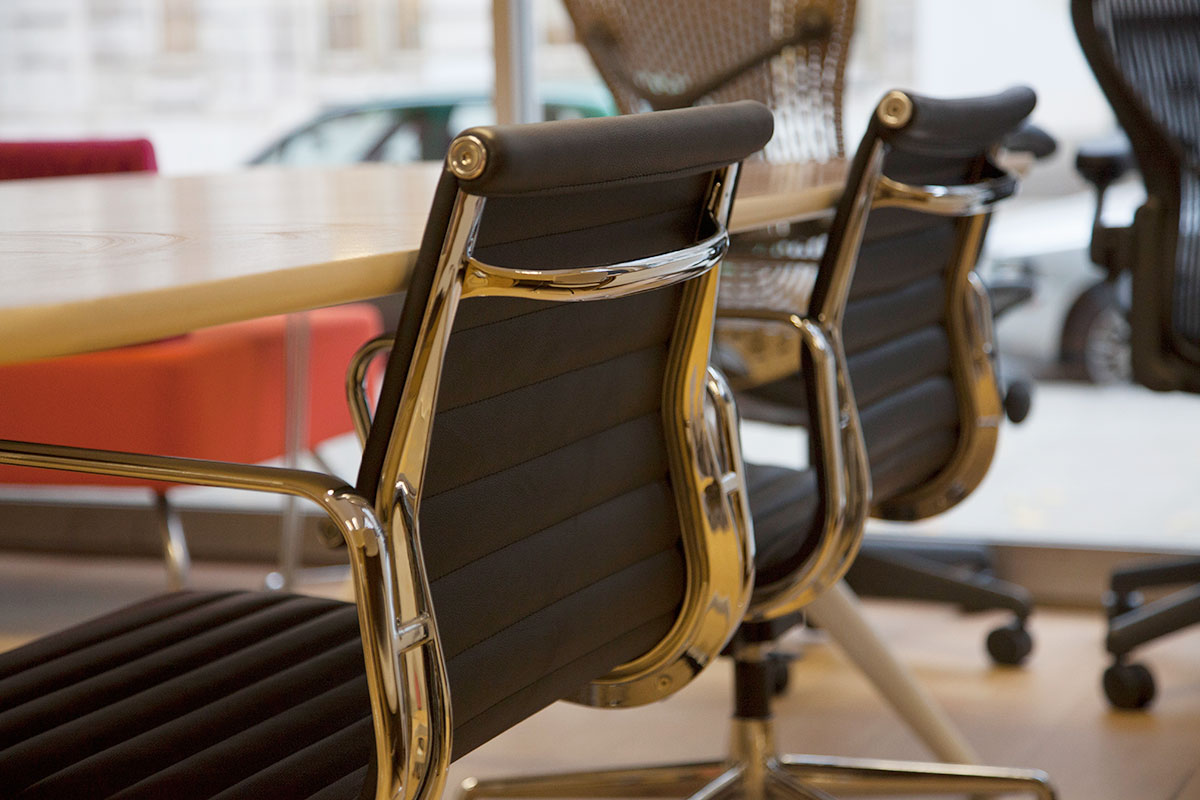 Eames style ribbed