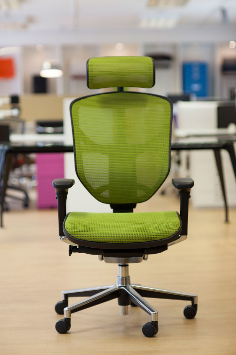 Enjoy task chair in Green mesh