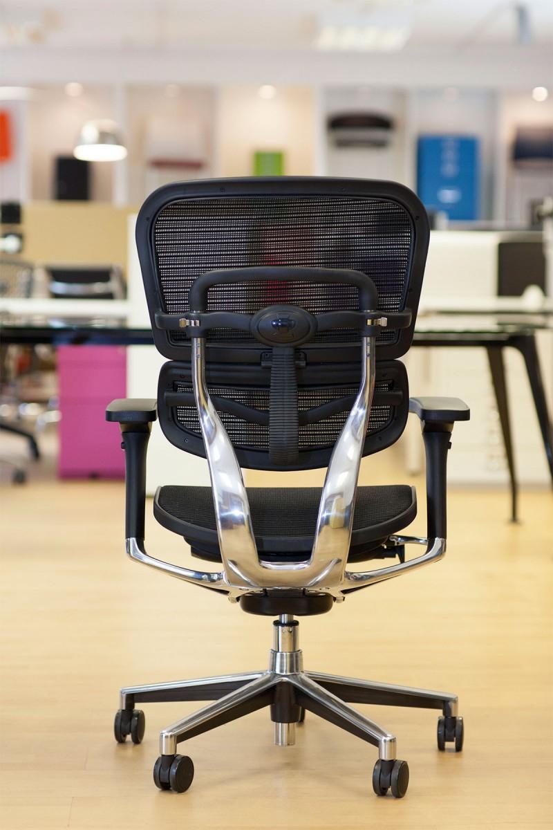 Ergohuman Black mesh chair back