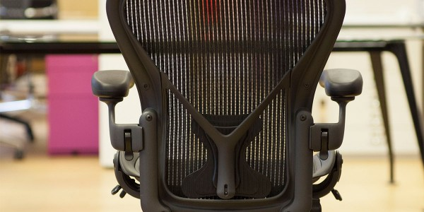 Herman Miller Aeron chair back