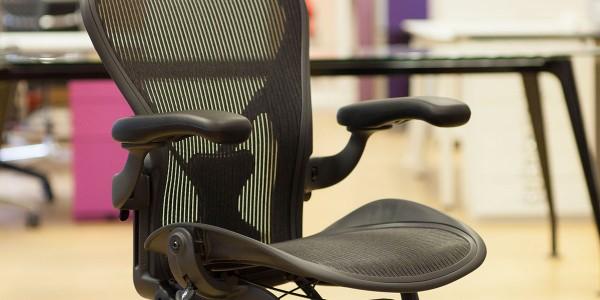 Herman Miller Aeron chair side