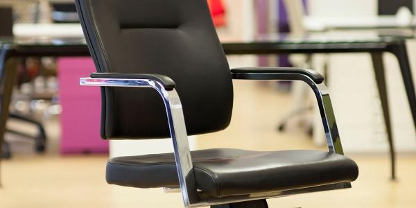 Verco Vibe Chair in Black hide side